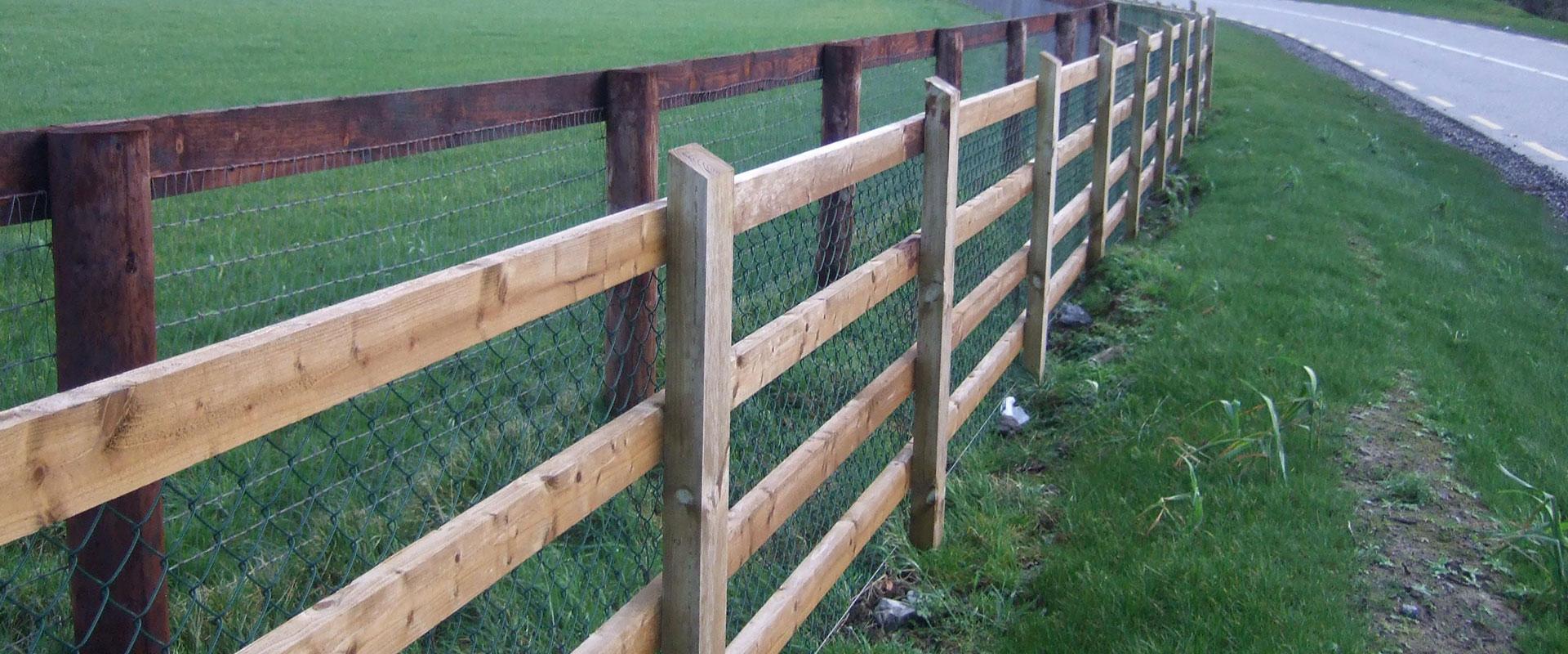Motorway Timber Fence & Rail