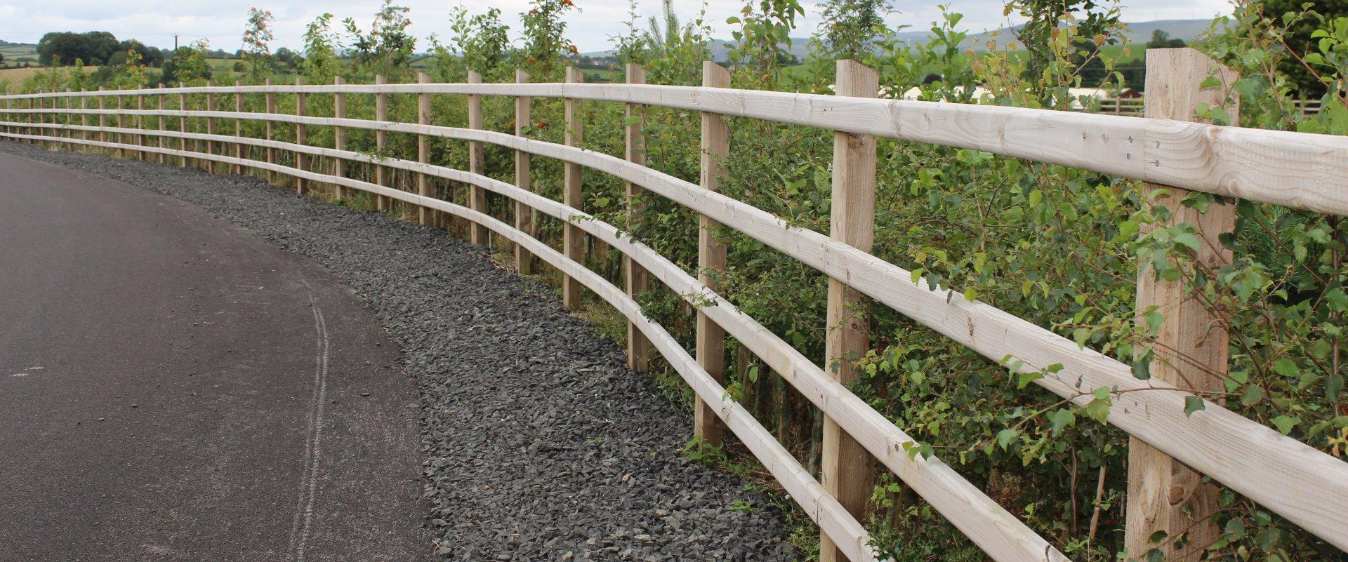 A26 Timber Post & Rail