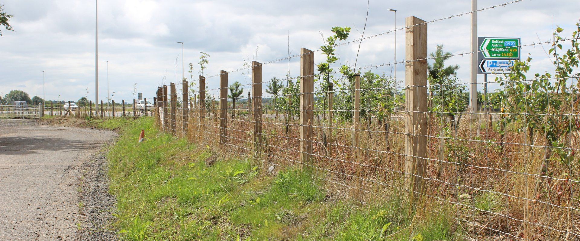 A26 Northern Ireland - Fencing project by Mulligan Fencing