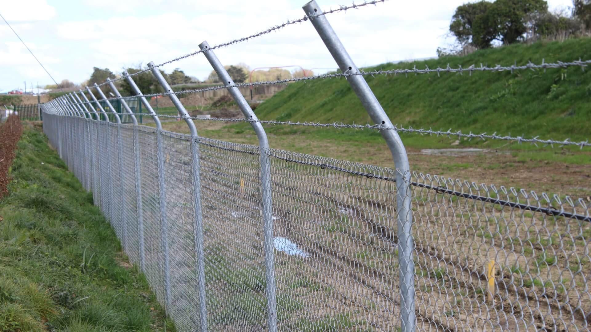 Solar Farm Security Chainlink Fence