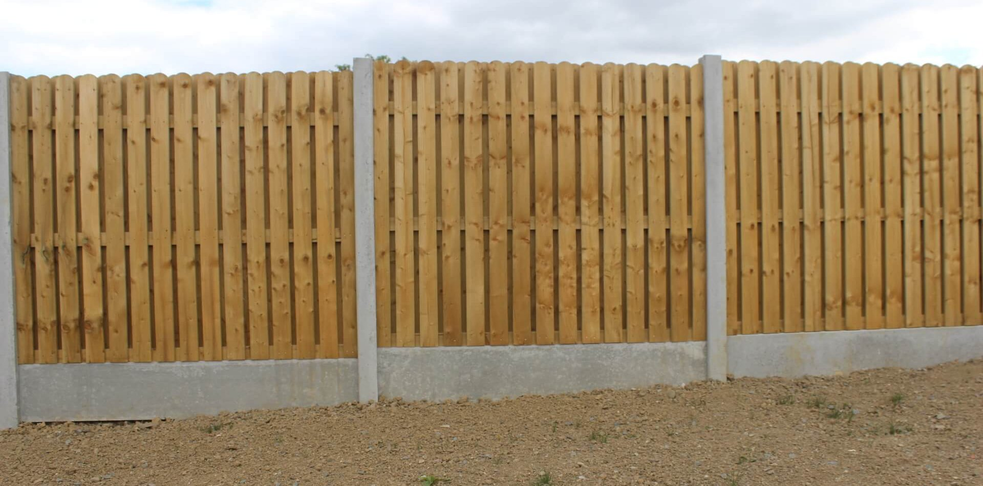 Concrete Post and Hit and Miss Timber Panel Fence, Dunleer Housing Development