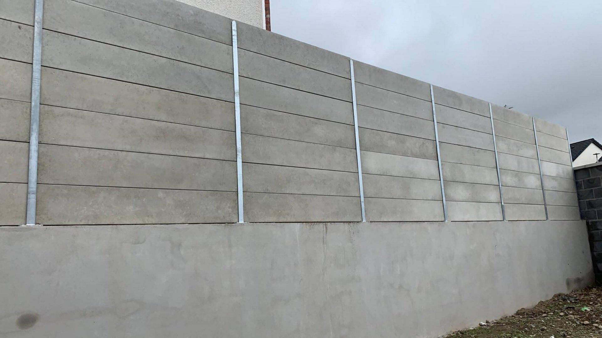 Concrete Panel with Galvanised Steel Post