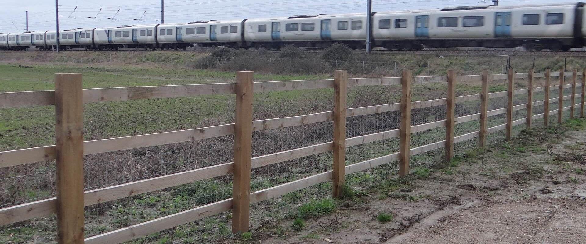 A14 Timber Post  Rail
