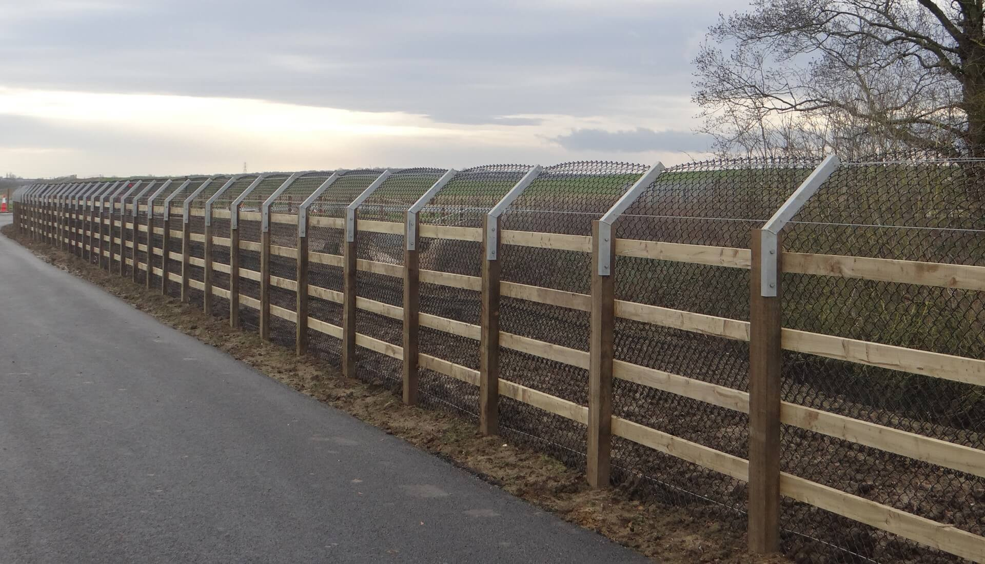 A14 Cambridge to Huntingdon Fence Otter Proof