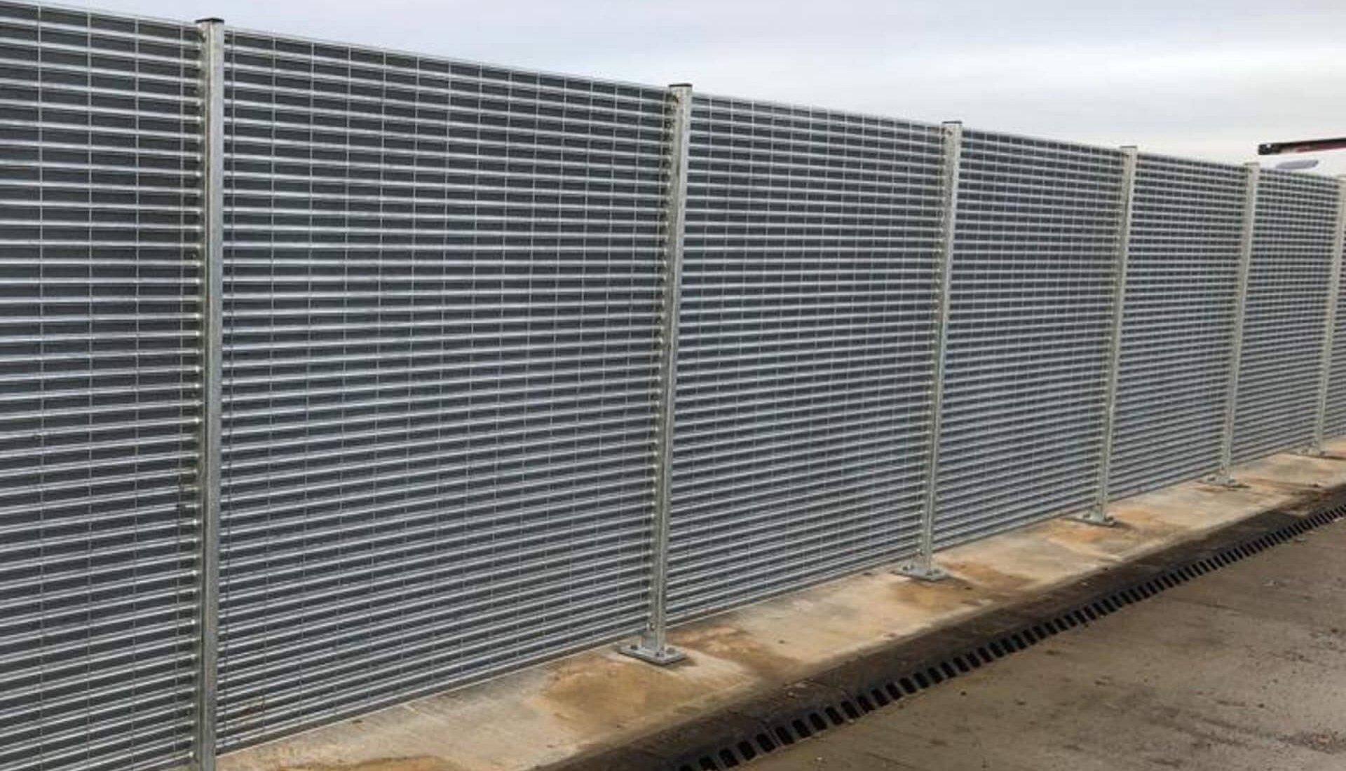 A14 Cambridge to Huntingdon Fence Lourve System