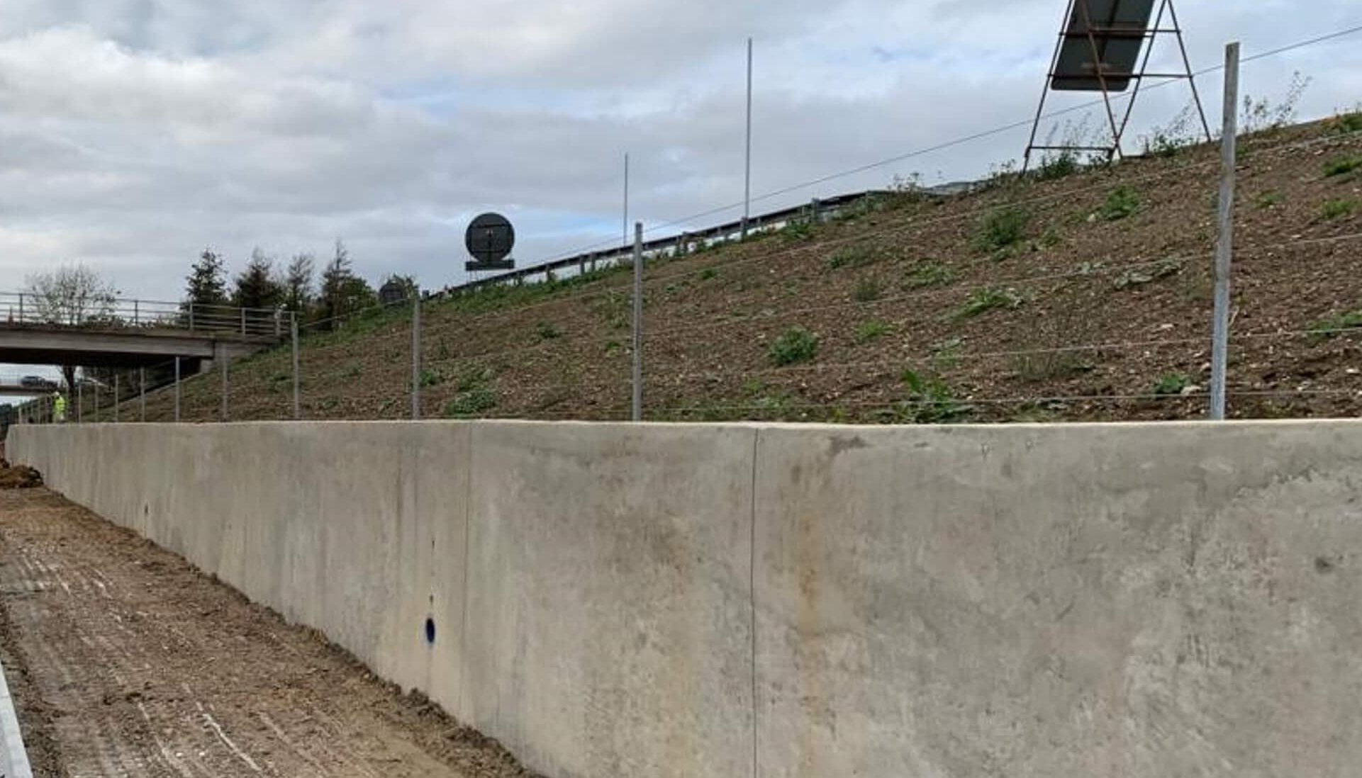 A14 Cambridge to Huntingdon Fence Steel Post and Wire