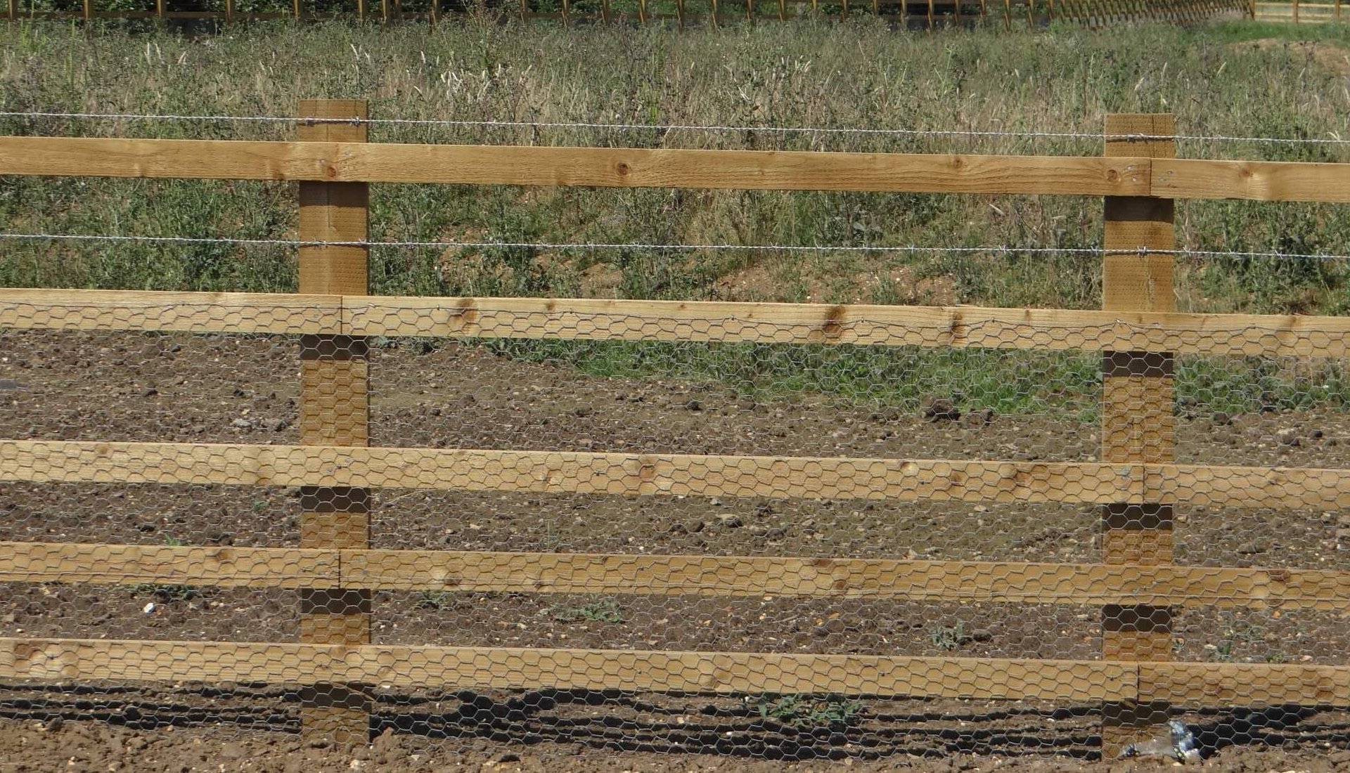 A14 Cambridge to Huntingdon Fence Timber Post and Rail
